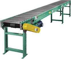 belt driven accumulating roller conveyor