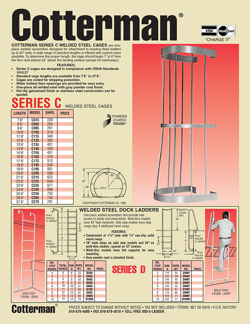 Fixed Ladder Cage Safety Cage For Ladders