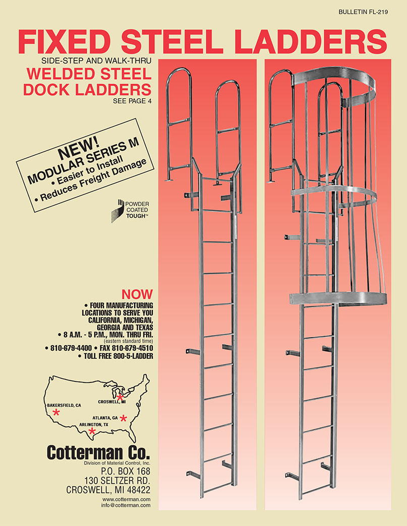 Cotterman Series M Modular Fixed Steel Ladder With Walk
