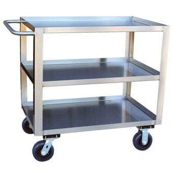 Three Shelf Stainless Steel Cart