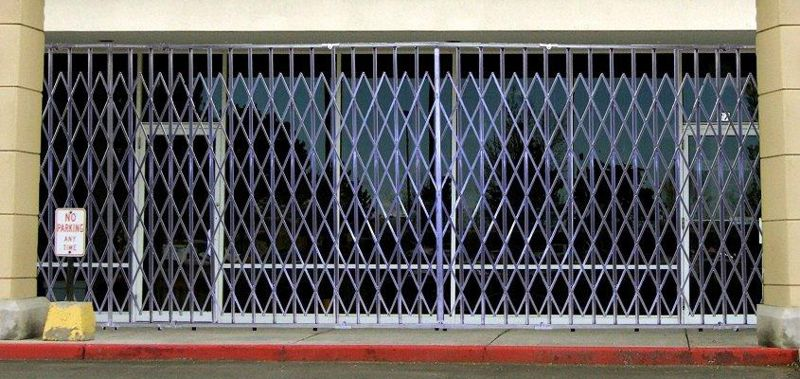 storefront security gate retractable security gates
