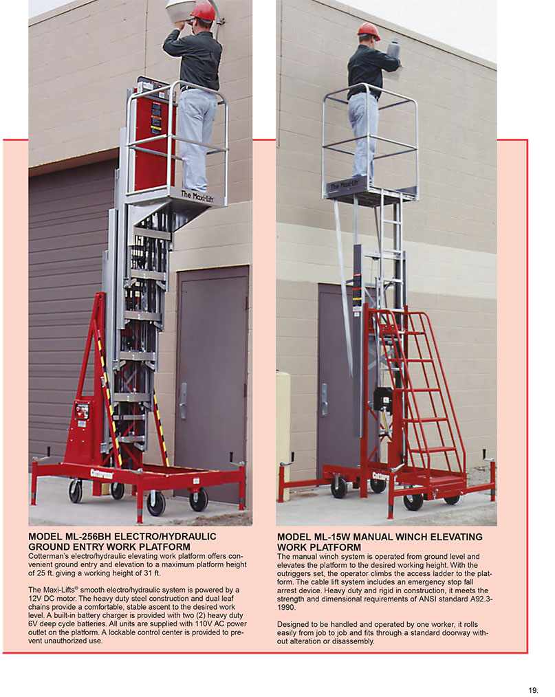 Cotterman Maxi Lift   Elevated Work Platforms   DC Graves
