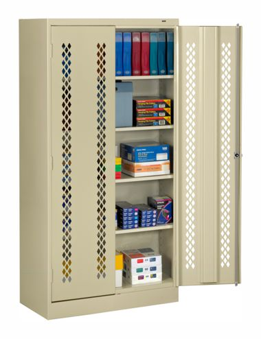 welded storage cabinets with perforated doors