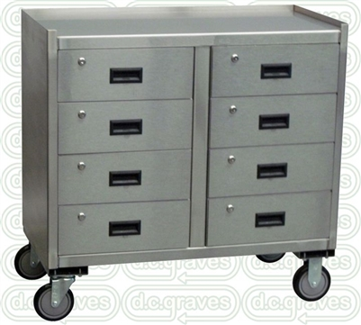 mobile cabinet zo13 stainless mobile cabinet w 8 drawers 18 quot x 36 23434